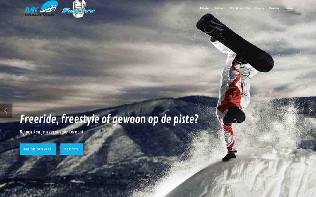 MK Skiservice en Frosty hebben nu samen één nieuwe site