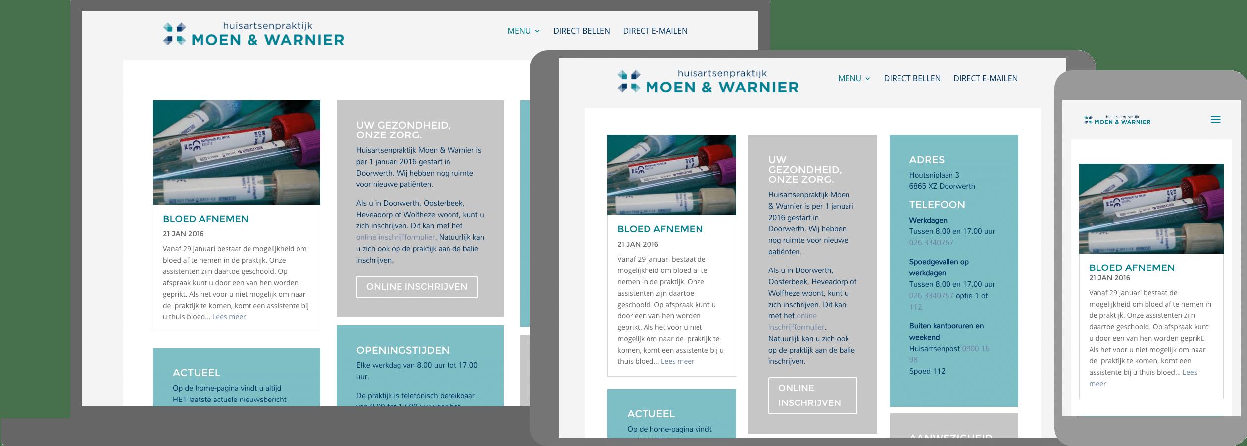 Site huirtsenpraktijk Moen & Warnier